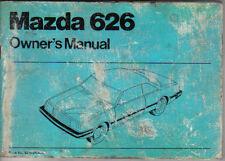 Mazda 626 1600 1800 2000 1981-83 Original Owners Manual (Handbook)