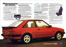 FORD ESCORT XR3 MK 3 RETRO A3 POSTER PRINT FROM 80's ADVERT