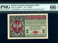 Poland:P-9,2 Marki,1917 * Crowned Eagle * PMG Gem UNC 66 EPQ *