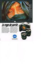 PUBLICITE ADVERTISING  1982   MINOLTA  appareil photo  XGM