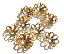 2313FN Bead Cap, Gold ptd Brass, 10mm for 10-14 bead Flower with Holes,  100 Qty