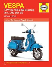 Vespa PX125 PX150 PX200 P125 P150 P200 & LML Star 1978-2012 Haynes Manuel 0707
