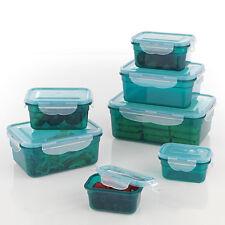 GOURMETmaxx Klick it Frischhaltedosen Aufbewahrung grün 14 teilig einfrieren