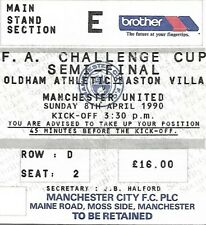 OLDHAM ATHLETIC  V MANCHESTER UNITED 1990 F.A CUP SEMI FINAL MATCH TICKET