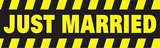 Just Married Bumper Sticker Vinyl Decal Wedding Party Car Sign Bridal Love br