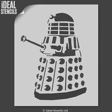 Dalek Stencil Dr Who Art Craft Wall Décor Paint Reusable Mylar Ideal Stencils