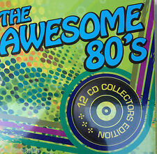 THE AWESOME 80'S  VARIOUS ARTISTS. 12 CD COLLECTORS BOX SET NEW & SEALED