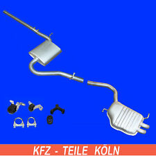 Audi A4 1.9 Tdi Agent + Muffler Exhaust System Exhaust Muffler