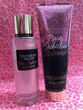 Victoria's Secret Pure Seduction Shimmer Body Mist 8.4 fl oz & Lotion 8 fl oz