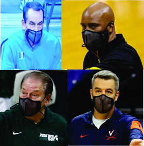 NCAA Basketball March Madness Coaches Wearing Shema 97 Breathable Nano Face Mask
