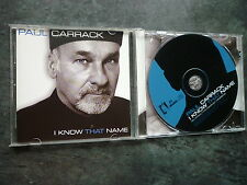 PAUL CARRACK I KNOW THAT NAME CD ALBUM EXC