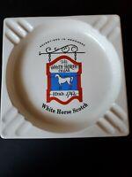 The White Horse Cellar Scotch Established 1742 Large Ashtray Ceramic Don Howard