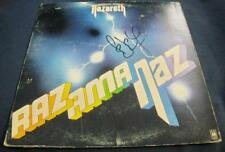 Pete Agnew Nazareth Razamanaz Hard rock Auto LP Vinyl © 1973 w/COA