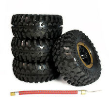 4Pcs 1:10 Rc Inflatable Beadlock Tires & Wheel For Crawler Truck SCX10 AX10