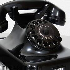 Post W48 Bakelit Tisch Telefon Wählscheibentelefon Schwarz Hochglanz Bj. 2.58
