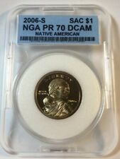 2006 S Sacagawea NGA Proof 70 Deep Cameo Dollar Coin USA