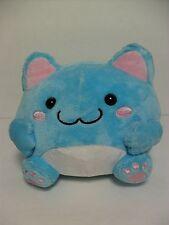 Maruneko Baby Blue Cat w/ Ribbon Tail 16cm Plush Kawaii San-X Cute Sanrio Japan
