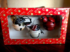 3 Dillards Jingle Bell Bird Christmas Tree Ornaments Cardinal + Other
