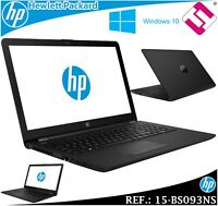 PORTATIL HP 15-BS093NS DUAL CORE CELERON N3060 1,6GHZ 15.6 8GB 500GWIFI BT W10
