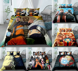 Naruto0 3PCS Bedding Set Duvet Cover Pillowcase Quilt Cover Comforter Cover Set
