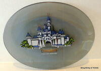 Disneyland Castle Souvenir Gray Glass Plate