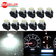 10 White T10 8SMD LED Bulb Instrument Panel Cluster Dash Light Twist Lock Socket