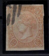 P133229/ SPAIN – ISABELLA II – EDIFIL # 73A USED – CV 105 $