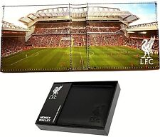 LIVERPOOL FC NEW STADIUM REAL LEATHER MONEY WALLET FOOTBALL SPORTS PURSE LFC