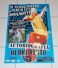 Manifesto Promo Cd JOVANOTTI Autobiografia di una festa POSTER Affiche 48x68 cm