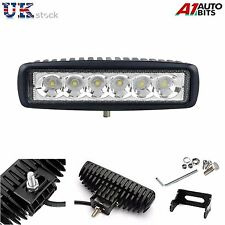 1x 18W 6 LED Offroad Slim Punktstrahl IP67 bar Traktor Jeep Truck Works Lampe