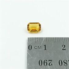 CITRINE Coloured 8x6mm Emerald Cut Citrine Loose Gemstone – Free Post