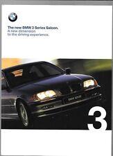 + + ridotte + + BMW 3 Series Saloon. E46 BROCHURE AUTO 1998 1999