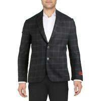 Zanella Mens Wool Blend Plaid Sportcoat Two-Button Blazer Jacket BHFO 4382