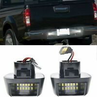 2pc License Plate Light Rear Bumper Lamp For Nissan Frontier Number Plate Lamp