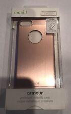 New OEM Moshi Apple iPhone 8 & 7 & 6 iGlaze Armour Metallic Rose Gold Cover Case