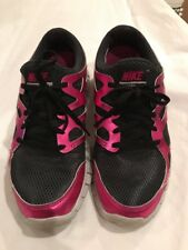 Womens Nike Free Run 2 Running Shoes Black Pink Size 11