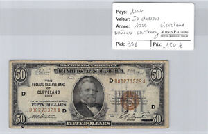 USA $50 Dollars 1929 National Currency Cleveland