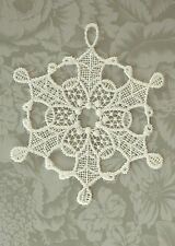 Macrame Ornament - White Christmas Snowflake by Heritage Lace - Off White