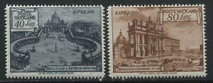Vatican Special Deliveries 40 and 80 lire mint hinged