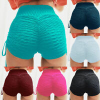 Women Sexy Compression Yoga Shorts Sport Gym Fitness Scrunch Butt Lift Hot Pants