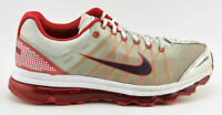 MENS NIKE AIR MAX + 2009 RUNNING SHOES SIZE 12 WHITRE RED 486978 166 AIR+