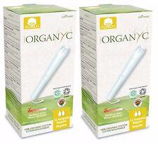 ORGANYC ORGANIC COTTON TAMPONS REGULAR 16 tampons x2 - 100% cotton NO SCENT