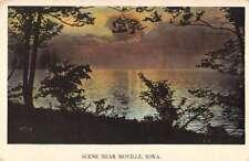 Moville Iowa Scenic Waterfront Antique Postcard K81367