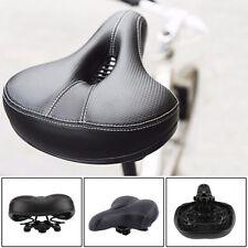 Dual-spring Bike Bicycle Wide Big Bum Soft Extra Comfort Saddle Seat Pad UK