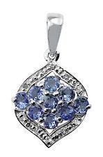 Tanzanite Exotic Pendent  Gemstone White Topaz in Silver Jewelry + Silver chain