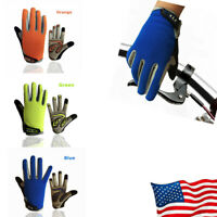 Youth/Kids Full Finger Mountain Bike Gloves Touch Screen Anti-Skid 3 Colors US