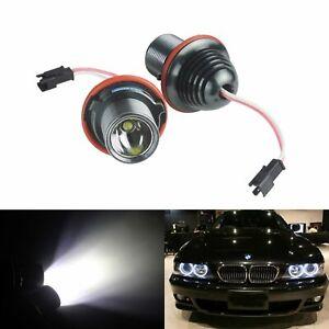 2x For BMW 5-series E39 E60 E61 E87 Canbus LED Angel Eyes Halo Ring Light Bulbs