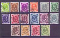 Bund 1951 - Posthorn - MiNr. 123/138 rund gestempelt - Michel 50,00 € (260)