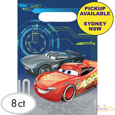 DISNEY CARS 3 PARTY SUPPLIES 8 LOOT BAGS BIRTHDAY TREAT FAVOURS LOLLY SACKS