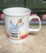 Vintage ELI 1983 Enesco Japan Mug Turkey Power by Harry Gans